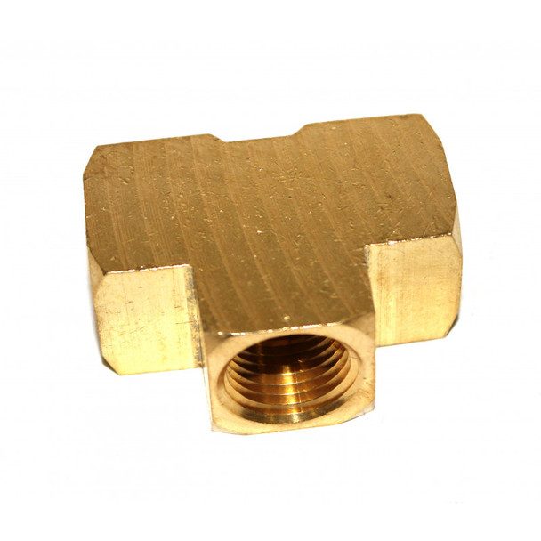 """TEE - BRASS - EXTRUDED - 1/2"""" FPT"""