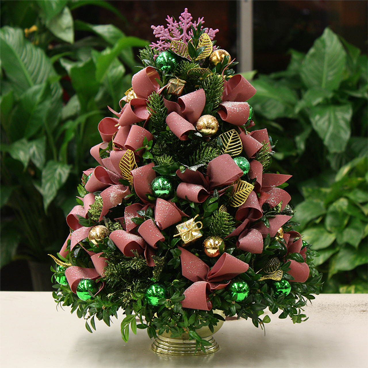 Christmas Cheer.Christmas Cheer Boxwood Tree