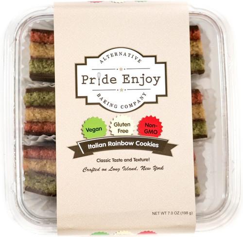 Vegan and Gluten Free Rainbow Cookies - 6 Piece