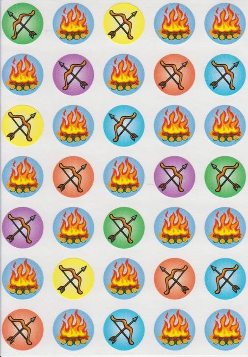 "Lag Ba'Omer Symbols Stickers 0.7"" - 1 SHEET"