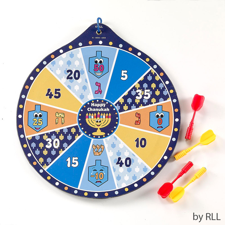 Chanukah Dart Game, Includes 4 Magnetic Darts