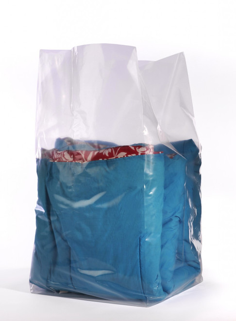 """20""""x18""""X30"""" Clear Gusseted Poly Bags 1.25 mil"""