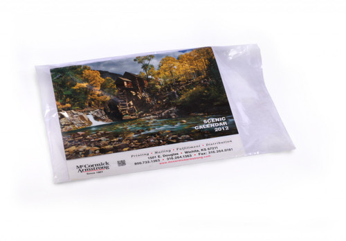 """12""""X18"""" Clear Layflat Poly Bags 1.25 mil"""