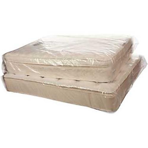 """39""""X8""""x90"""" Clear Mattress Bags Twin 1.5 mil 100/RL"""