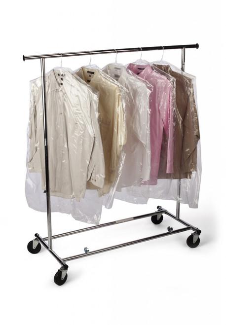 "21""X4""x38"" Clear Garment Bags on a Roll 0.6 mil 510/RL"