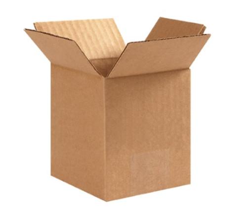"4"" x 4"" x 6"" (ECT-32) Kraft Corrugated Cardboard Shipping Boxes"