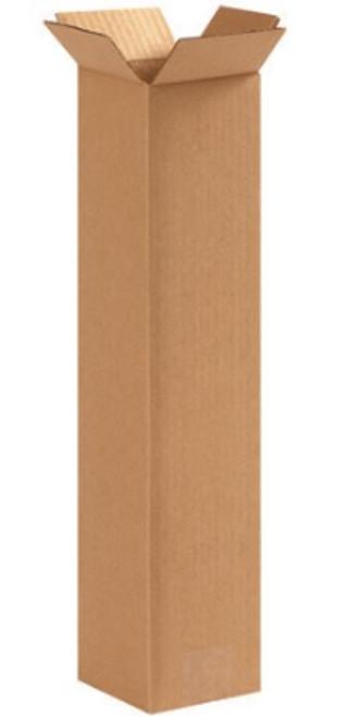 "4"" x 4"" x 18"" (ECT-32) Tall Kraft Corrugated Cardboard Shipping Boxes"