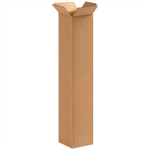 "4"" x 4"" x 20"" (ECT-32) Tall Kraft Corrugated Cardboard Shipping Boxes"