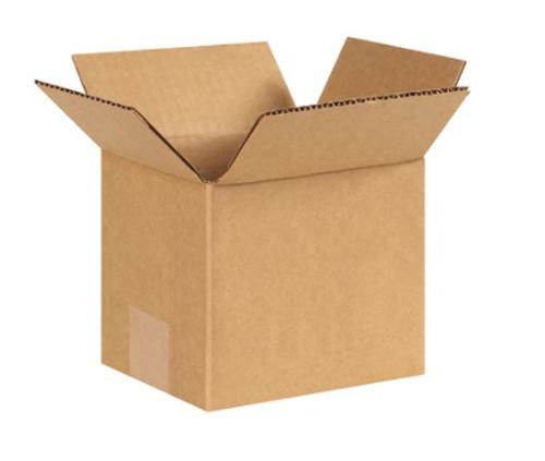 "6"" x 5"" x 5"" (ECT-32) Tall Kraft Corrugated Cardboard Shipping Boxes"