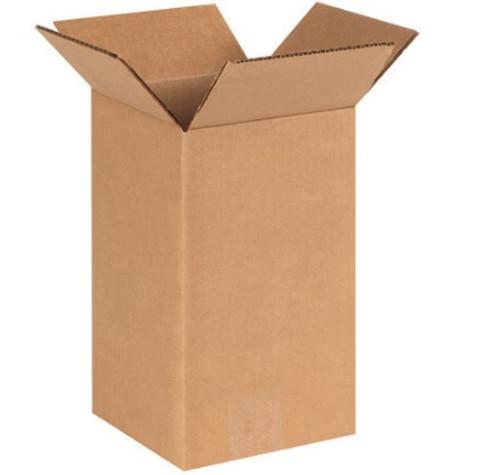 "6"" x 6"" x 10"" (ECT-32) Tall Kraft Corrugated Cardboard Shipping Boxes"
