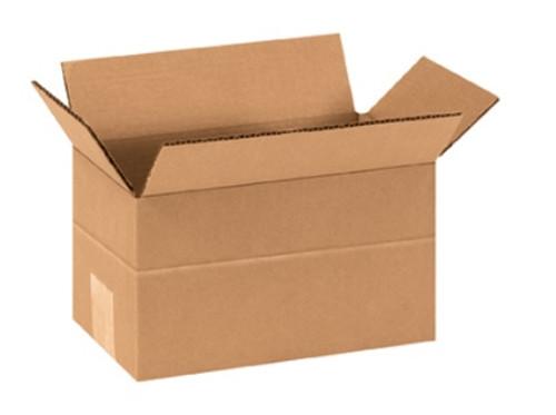 "9"" x 5"" x 5"" (ECT-32) Multi-Depth Kraft Corrugated Cardboard Shipping Boxes"