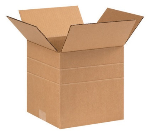 "9"" x 9"" x 9"" (ECT-32) Multi-Depth Kraft Corrugated Cardboard Shipping Boxes"