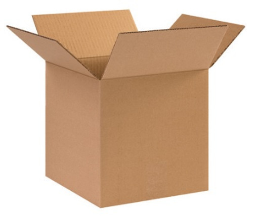 "10"" x 10"" x 10"" (ECT-32) Kraft Corrugated Cardboard Shipping Boxes"