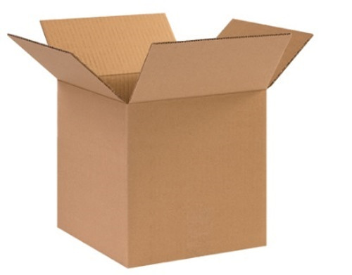 "10"" x 10"" x 10"" (ECT-44) Heavy Duty Single Wall Kraft Corrugated Cardboard Shipping Boxes"