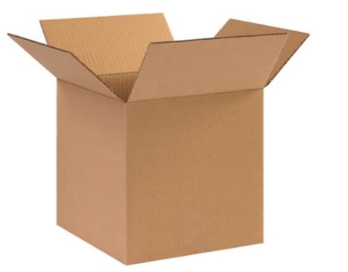 "10"" x 10"" x 10"" (DW/ECT-48) Heavy Duty Double Wall Kraft Corrugated Cardboard Shipping Boxes"
