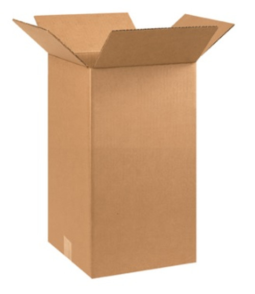 "10"" x 10"" x 18"" (ECT-32) Tall Kraft Corrugated Cardboard Shipping Boxes"