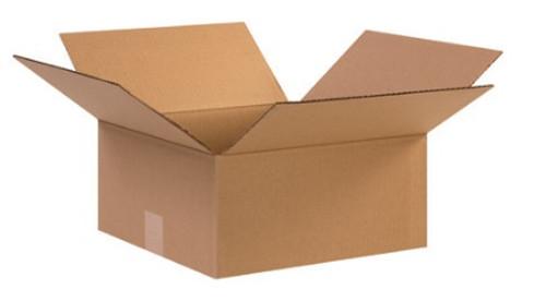 "12 1/2"" x 12 1/2"" x 6"" (ECT-32) Kraft Corrugated Cardboard Shipping Boxes"