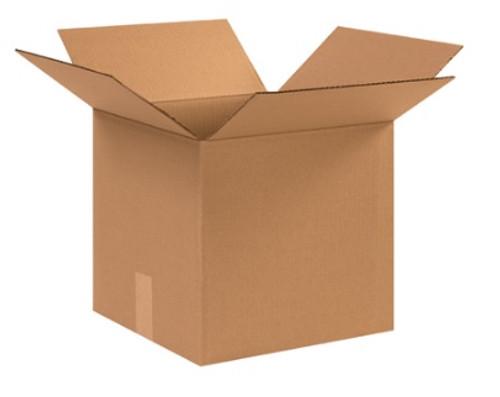 "12 1/2"" x 12 1/2"" x 12"" (ECT-32) Kraft Corrugated Cardboard Shipping Boxes"