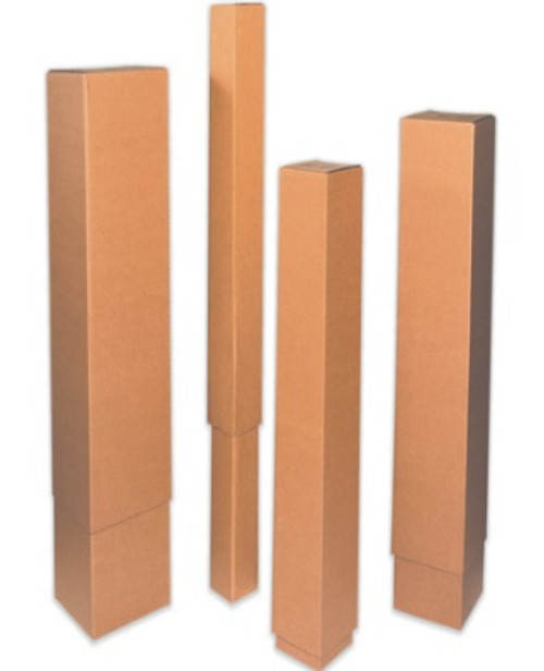 """12 1/2"""" x 12 1/2"""" x 48"""" (ECT-32) Telescoping Outer Box Kraft Corrugated Cardboard Shipping Boxes"""