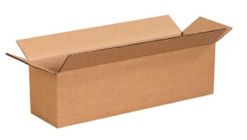"14"" x 4"" x 4"" (200#/ECT-32) Long Kraft Corrugated Cardboard Shipping Boxes"