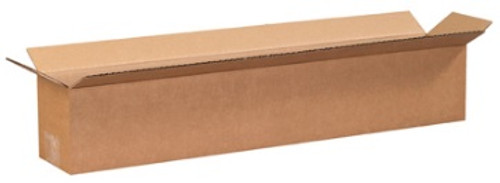 "24"" x 4"" x 4"" (200#/ECT-32) Long Kraft Corrugated Cardboard Shipping Boxes"