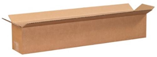 "24"" x 4"" x 4"" (ECT-32) Long Kraft Corrugated Cardboard Shipping Boxes"