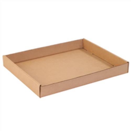 "15"" x 12"" x 1 3/4"" (200#/ECT-32) Kraft Corrugated Cardboard Trays"