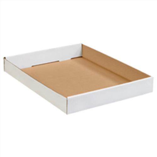 "15"" x 12"" x 1 3/4"" (200#/ECT-32) White Corrugated Cardboard Trays"