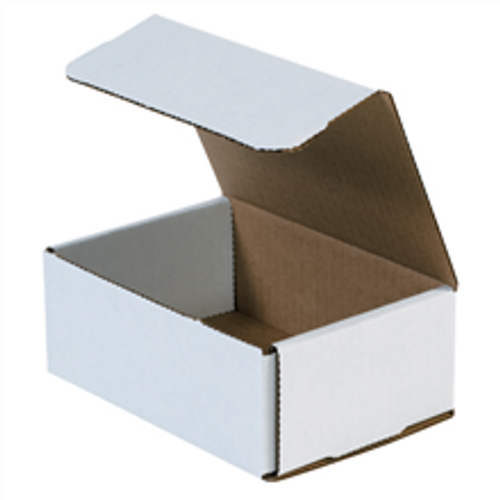 "6 1/2"" x 4 1/2"" x 2 1/2"" (200#/ECT-32-B) White Corrugated Cardboard Mailers"