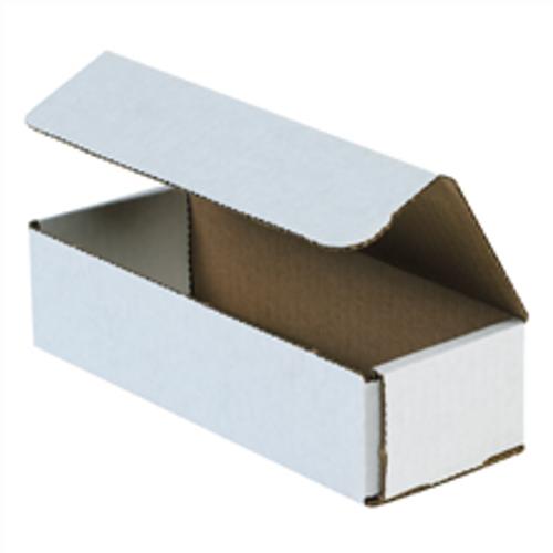 "8"" x 3"" x 2"" (200#/ECT-32-B) White Corrugated Cardboard Mailers"