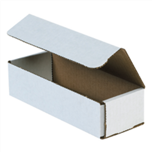 "8"" x 3"" x 2"" (ECT-32-B) White Corrugated Cardboard Mailers"