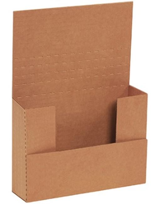 "7 1/2"" x 5 1/2"" x 2"" (200#/ECT-32-B) Kraft Corrugated Cardboard Easy-Fold Mailers"