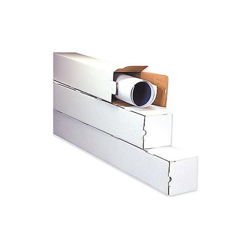 "5"" x 5"" x 48"" White Square Mailing Storage / Shipping Tubes"