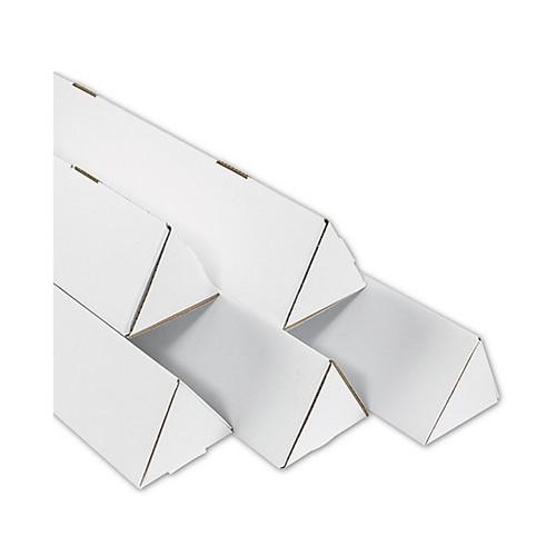 "2"" x 18 1/4"" White Triangle Mailing Storage / Shipping Tubes"