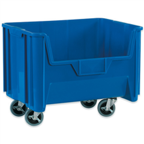 """19 7/8"""" x 15 1/4"""" x 12 7/16"""" Blue  Mobile Giant Stackable Bins"""