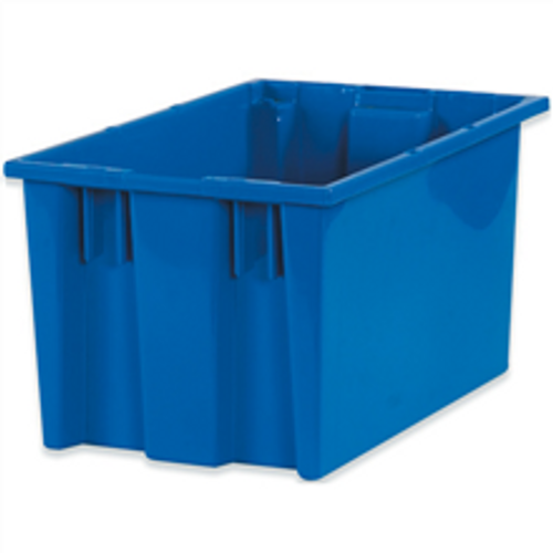 """16"""" x 10"""" x 8 7/8"""" Blue Stack & Nest Containers"""