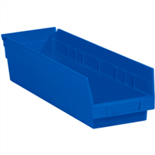 "17 7/8"" x 4 1/8"" x 4"" Blue  Plastic Shelf Bin Boxes"