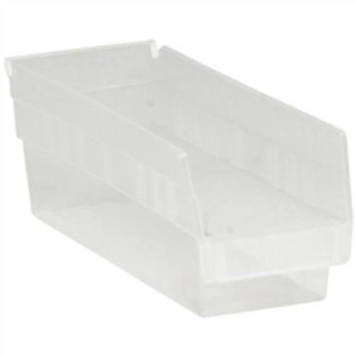 "11 5/8"" x 4 1/8"" x 4"" Clear  Plastic Shelf Bin Boxes"