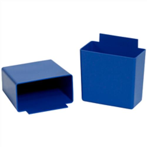 """3 1/4"""" x 1 3/4"""" x 3 Blue  Shelf Bin Cups"""
