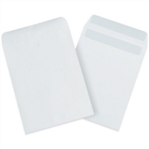 """6"""" x 9"""" White Redi-Seal Envelopes Fold Flap, Press Down, and Mail. No Moisture Needed to Seal."""