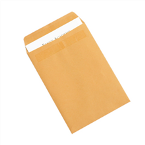 """7 1/2"""" x 10 1/2"""" Kraft Redi-Seal Envelopes Fold Flap, Press Down, and Mail. No Moisture Needed to Seal."""