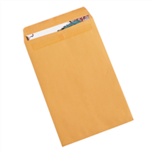 """10"""" x 15"""" Kraft Redi-Seal Envelopes Fold Flap, Press Down, and Mail. No Moisture Needed to Seal."""