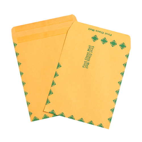 """10"""" x 13"""" Kraft Redi-Seal First Class Envelopes Fold Flap, Press Down, and Mail. No Moisture Needed to Seal."""