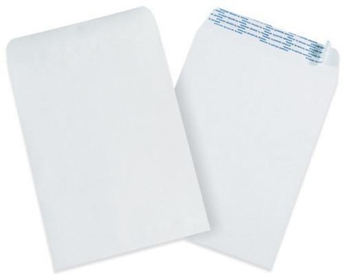 "9 1/2"" x 12 1/2"" Self-Seal Paper Stock White Business Envelopes."