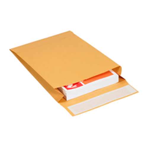 "9"" x 12"" x 2"" Self-Seal Expandable Paper Stock Kraft Business Envelopes."