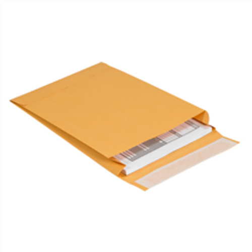 "9 1/2"" x 13"" x 2"" Self-Seal Expandable Paper Stock Kraft Business Envelopes."