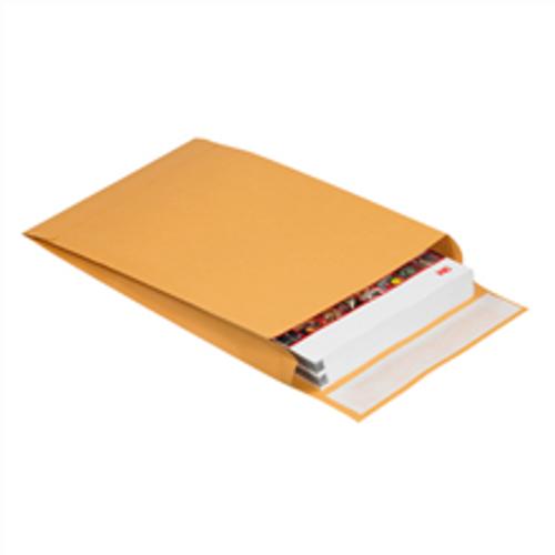 "10"" x 15"" x 2"" Self-Seal Expandable Paper Stock Kraft Business Envelopes."