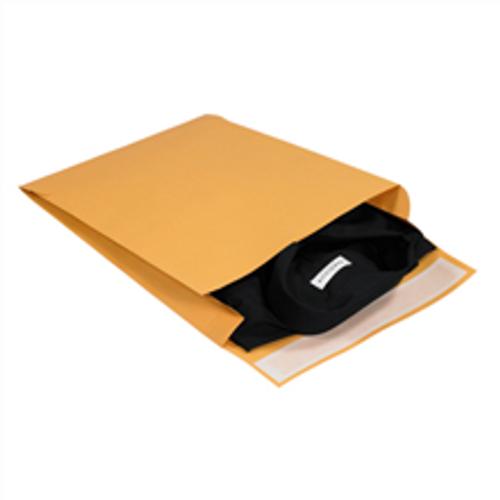 "12"" x 15"" x 3"" Self-Seal Expandable Paper Stock Kraft Business Envelopes."