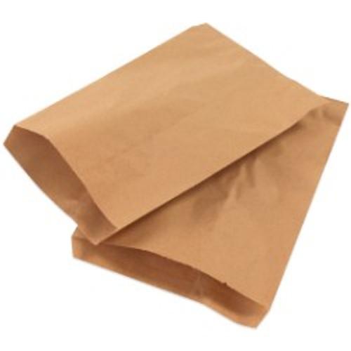 "15"" x 18"" Kraft Flat Merchandise Brown Paper Bags"
