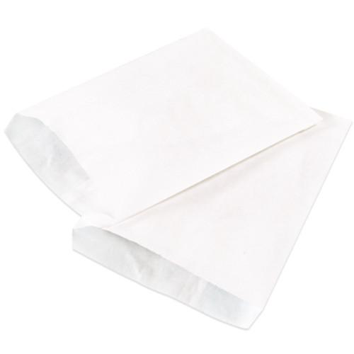 "15"" x 18"" White  Flat Merchandise Bags Case / 500"